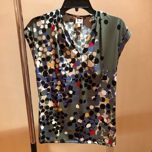 Short Sleeve multi-colored Blouse